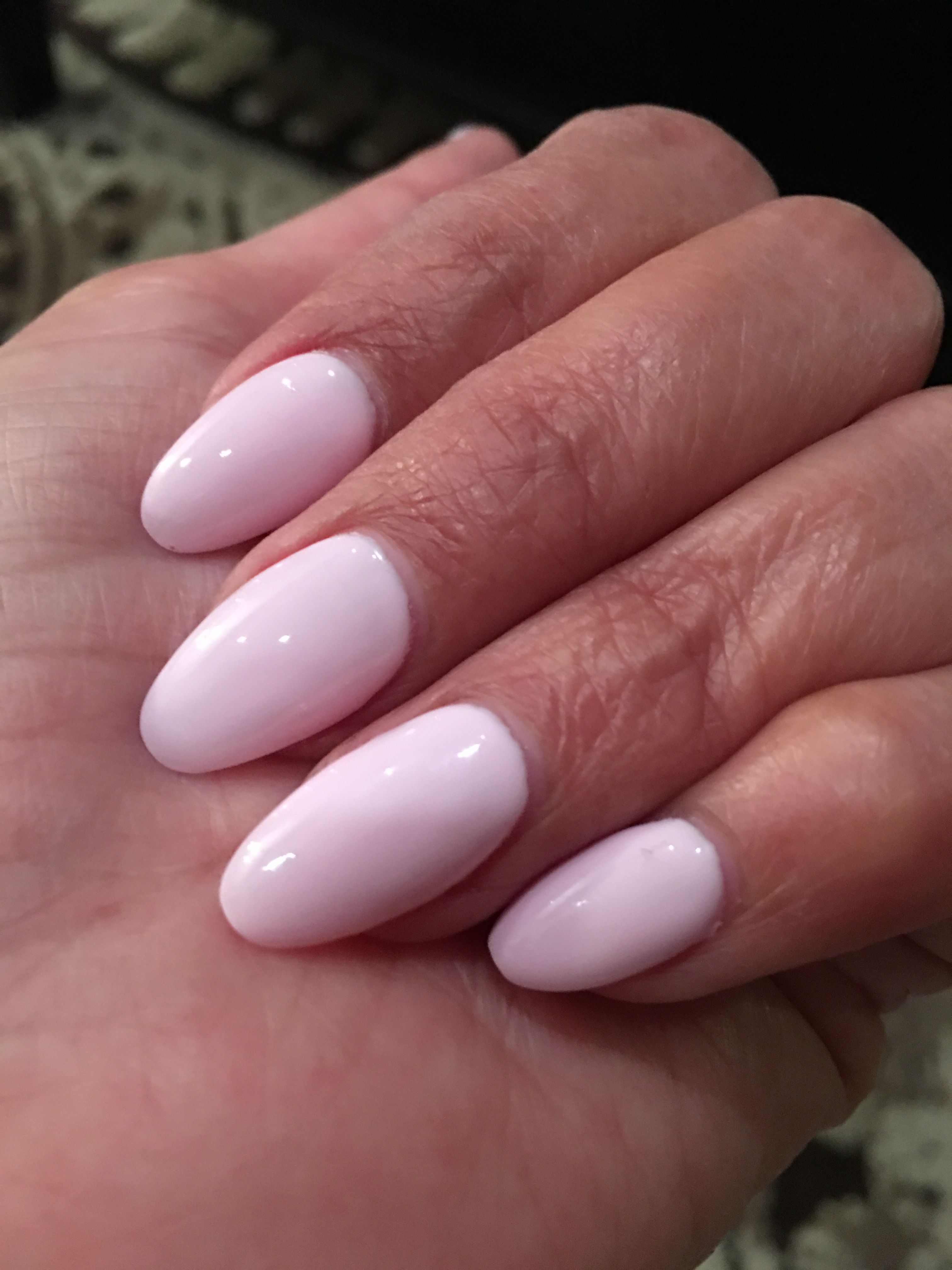 Pink And White Almond Shaped L P Nails French Nails Nail Shapes French Tip Nails