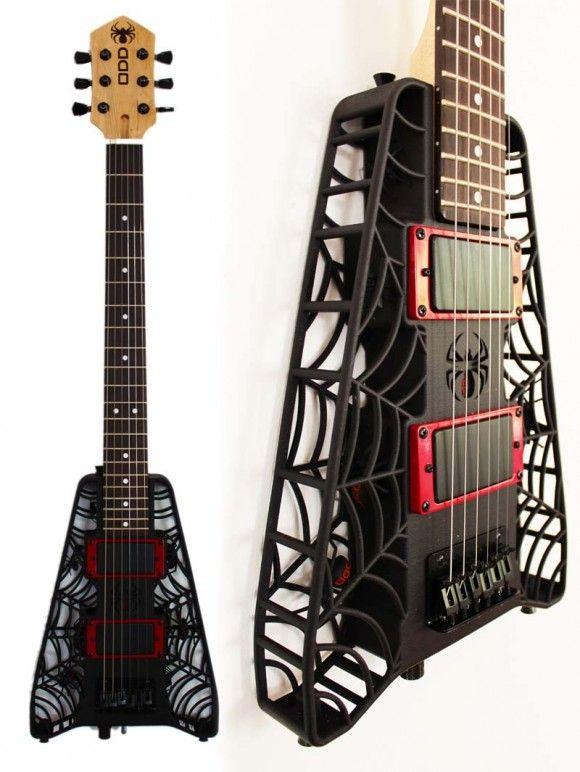 3D printed spider guitar