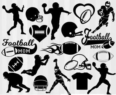 Best Football Clipart 756 Football Clip Art Black And White