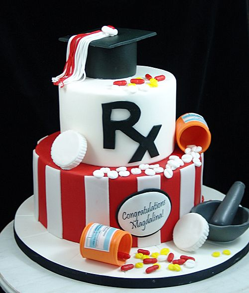 Pharmacy Graduation Cake With Images Graduation Cakes College