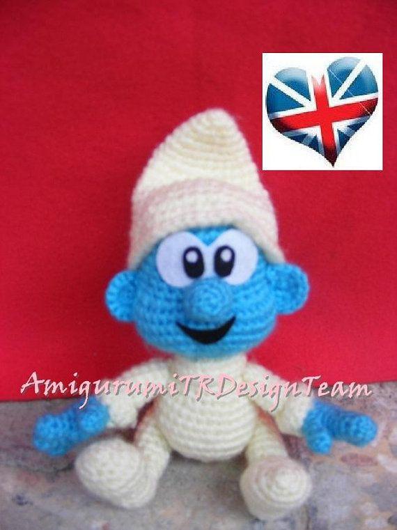Baby Smurf-AmigurumiTRDesignTeam | Muñecos de ganchillo, Ganchillo y ...