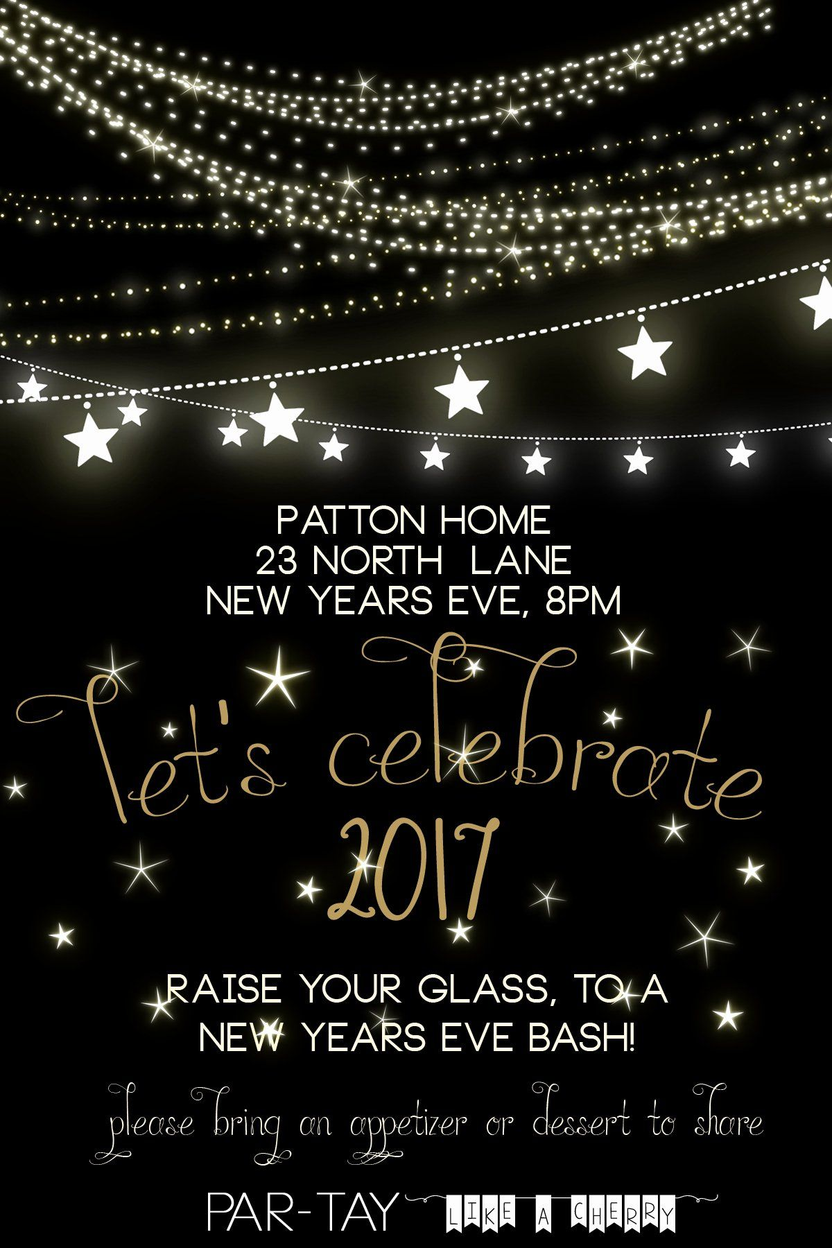 New Years Eve Invitations Templates Inspirational Free New