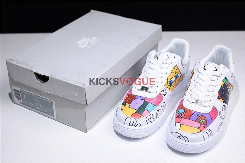 Custom KAWS x Nike Air Froce 1 Low Graffiti in 2019 | Nike