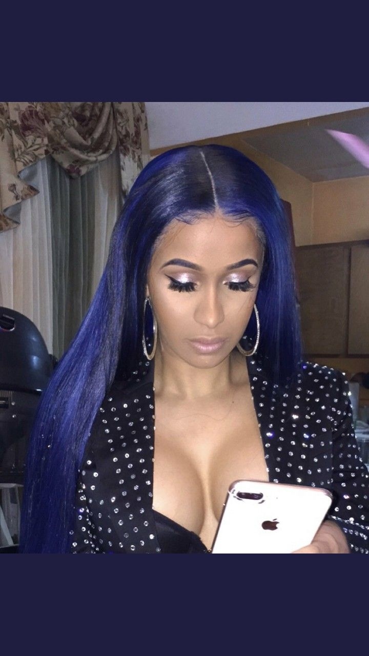 Cardi B Blue Hair: Cabello, Peinados, Que Guapo