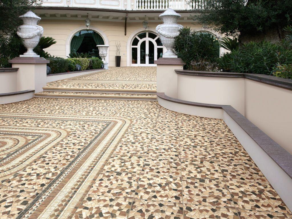 Queste piastrelle ricreano la variet dei disegni e dei decori tipici del seminato di marmo - Piastrelle di marmo ...