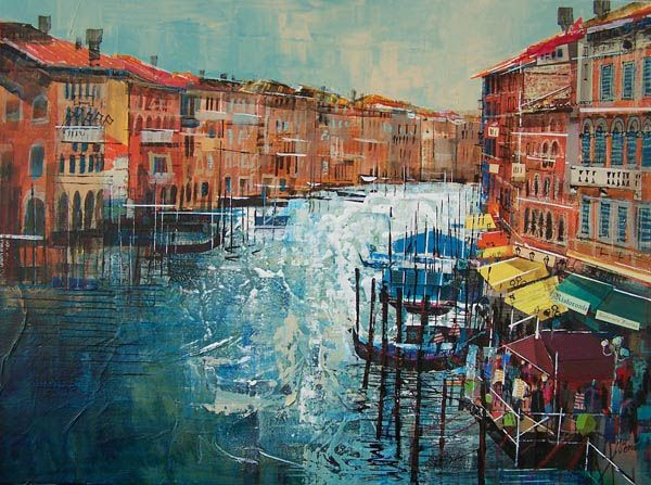 MORNING, GRAND CANAL, VENICE  18X24 INS