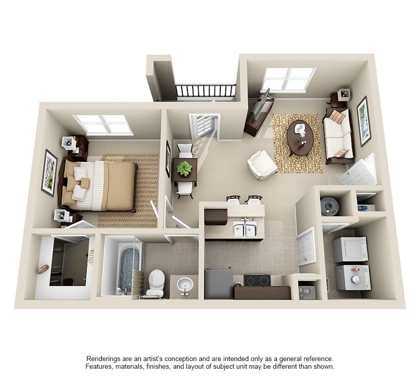 One Bedroom Apt Near Me In 2020 Studio Apartment Floor Plans Apartment Floor Plans Studio Apartment Layout