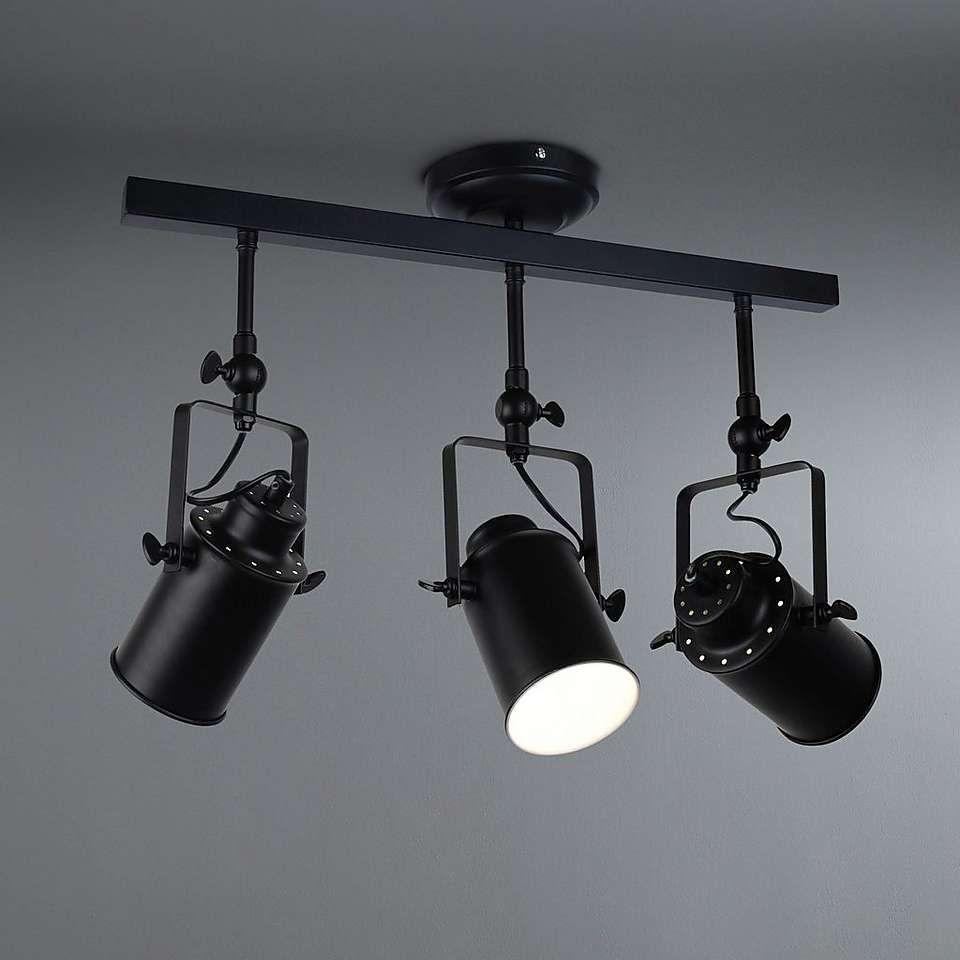 Healy Black 3 Spotlight Ceiling Ing Duston