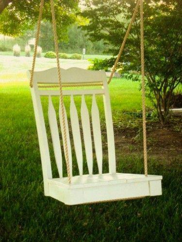 Faire Balancoire Et Jardiniere Avec Une Chaise De Recup Diy Deco