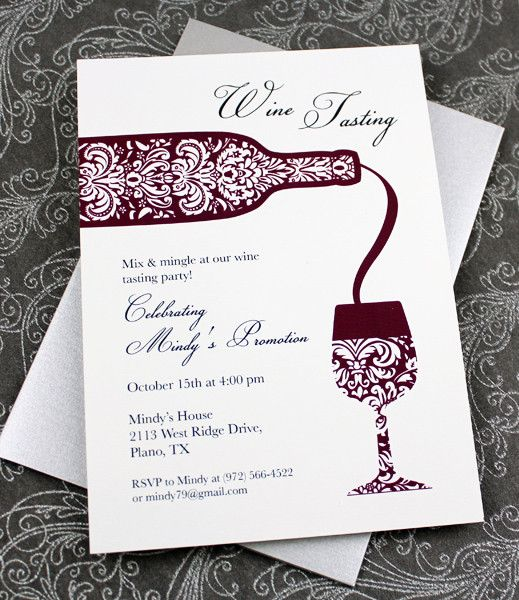 Wine Tasting Invitation Template – Wine Tasting Party Invitation Wording