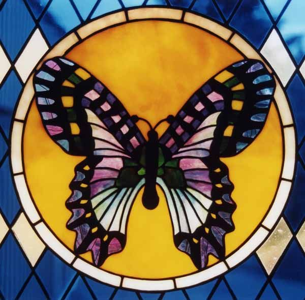 Stained Glass Butterfly Lamp The Symbol For Resurrection And