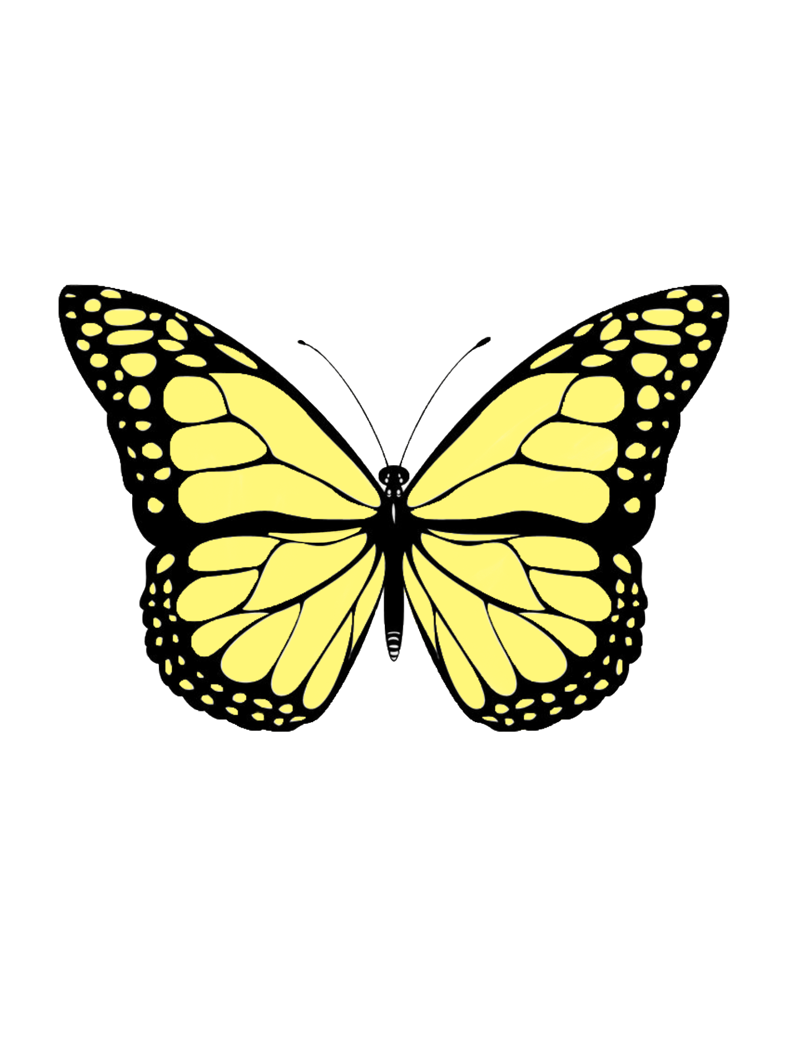 Yellow butterfly sticker   Butterfly art painting ...