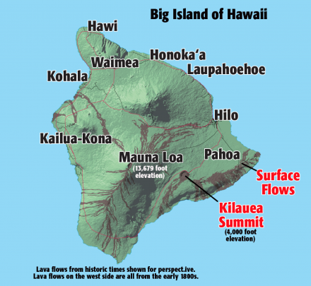 Big Island Current Lava Flow Map 2018 Hawaii Revealed Places We