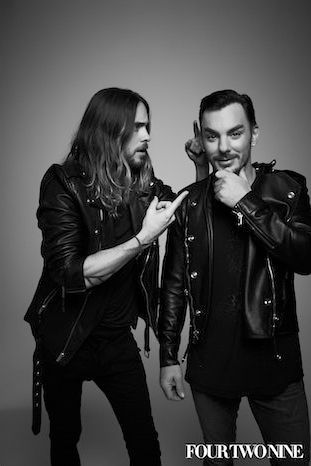 Shannon and Jared Leto by Damon Baker for 429 Magazine.- (via http://dot429.com/articles/4319-exclusive-photos-jared-and-shannon-leto-of-thirty-seconds-to-mars
