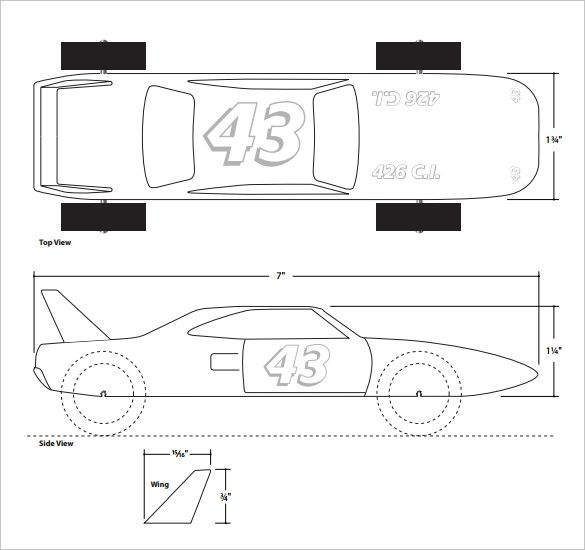 21+ Cool Pinewood Derby Templates - Free Sample, Example Format - free pinewood derby car templates download