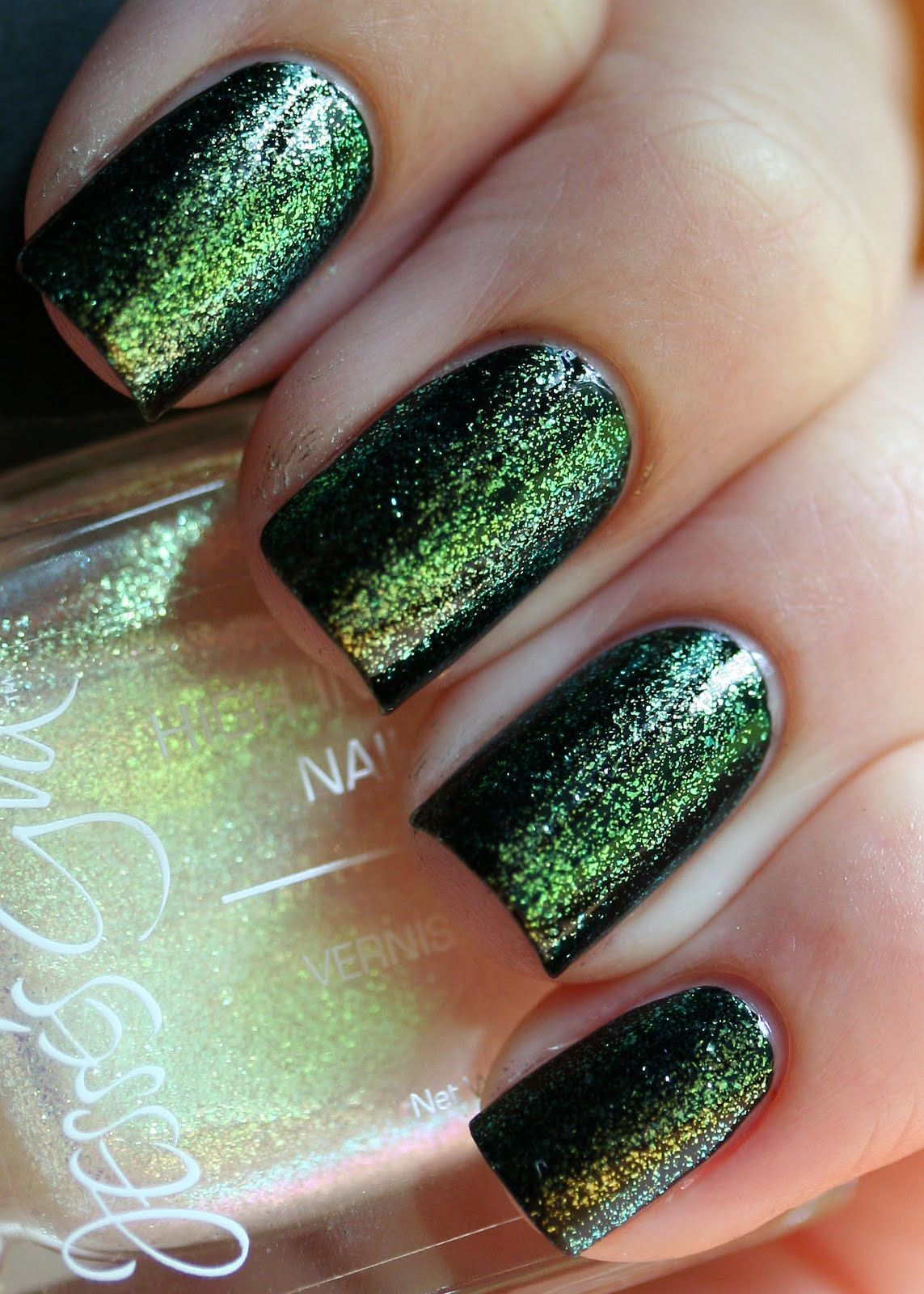 The Nail Network: Jesse\'s Girl Firefly over Black | Nail Polish ...