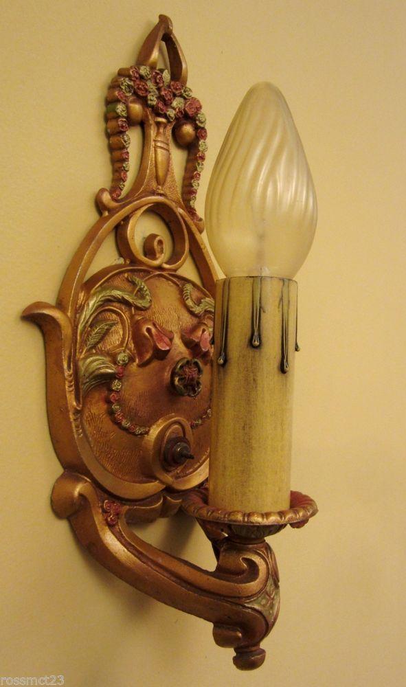Vintage Sconces Four Matching 1920s Wall Light Incredibly Beautiful Vintage Sconce Wall Lights Sconce Light Fixtures
