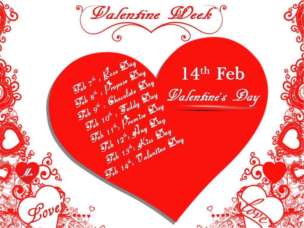 All Valentine Week List 2017 Calendar Valentine S Day Date Sheet