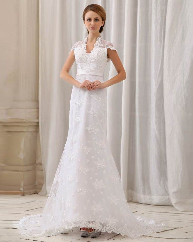Wedding Dresses With Collars For Majestic Look