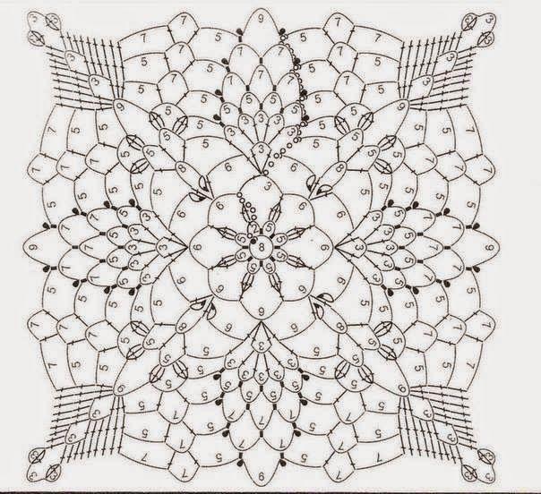 Horgolt mintagyűjtemény: Blokkok | mantas | Pinterest | Ganchillo ...