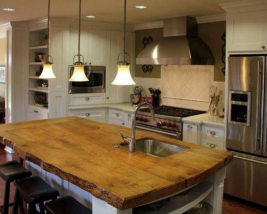 Butcher Block Counter Top Kitchen Design, Pictures, Remodel, Decor ...