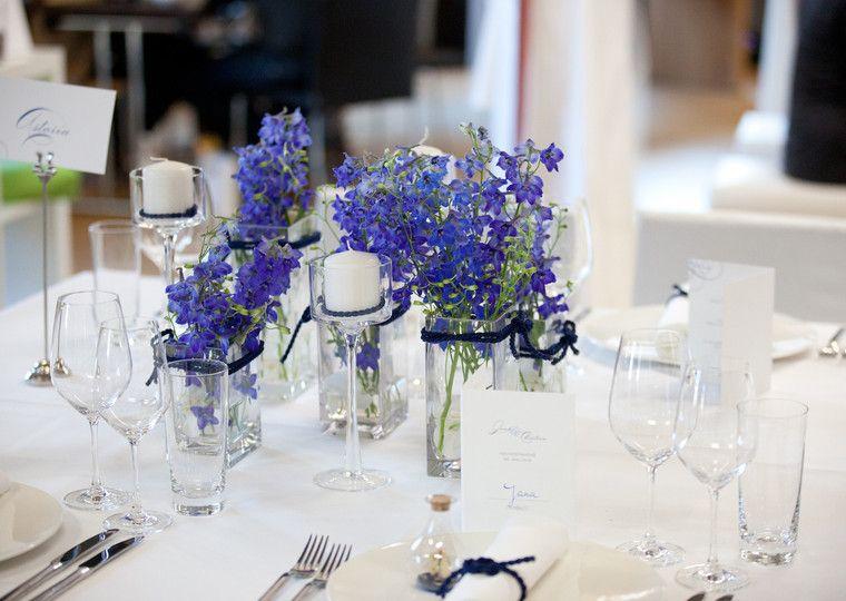 maritime hochzeit zum thema nautica mit rittersporn und blauer kordel wedding pinterest. Black Bedroom Furniture Sets. Home Design Ideas
