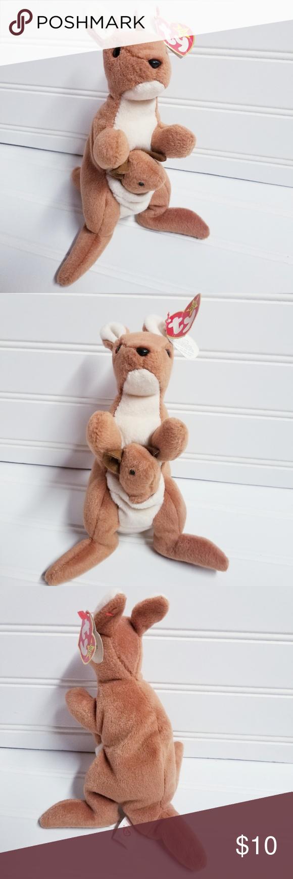 Pouch the Kangaroo Beanie Babies Original #4161