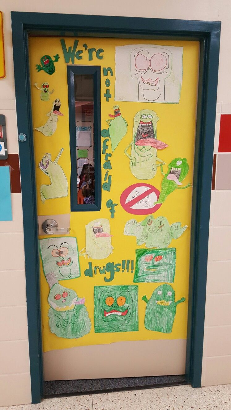 Red Ribbon Week Ghostbusters Themed Door My Students Drew The Slimers And Really Got A Big Kick Out Of It Redribb Red Ribbon Week Student Drawing Red Ribbon [ 1328 x 747 Pixel ]