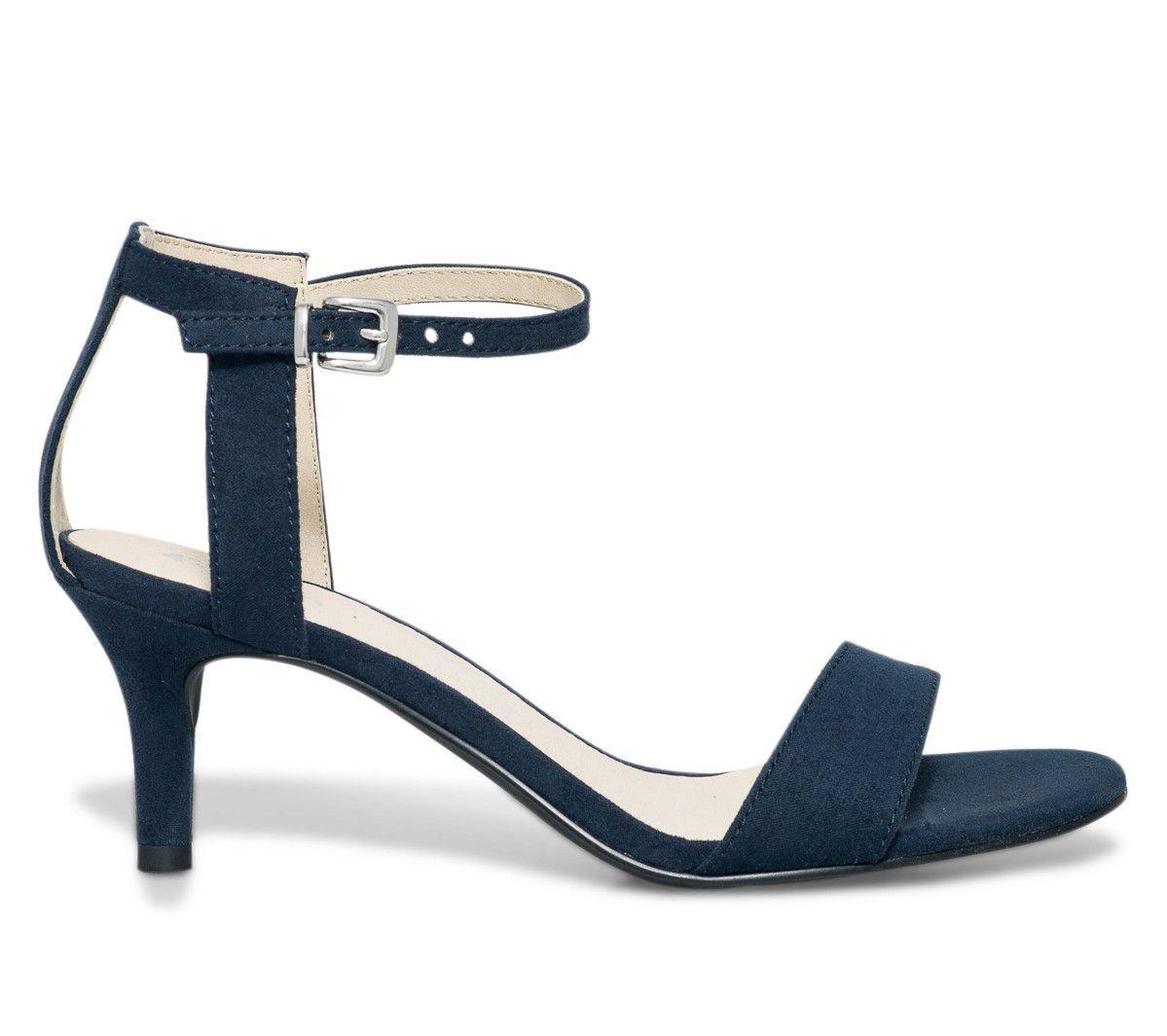 sandale petit talon marine - Sandales talon - Chaussures femme ... f3caf048206f