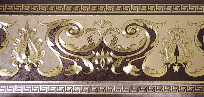 [Hot Item] Gold Foil Wallpaper Border (13.5cm*5m) in 2020