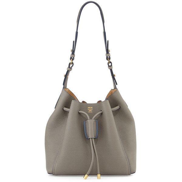 MCM Milla Drawstring Bucket Bag (2.430.615 COP) ❤ liked on Polyvore
