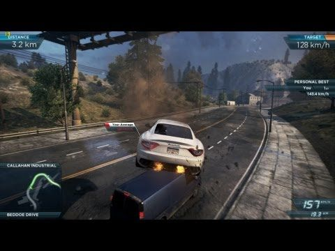 Need For Speed Most Wanted 2012 Gameplay Aston Martin Jumps Over A