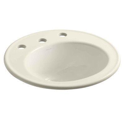 """Kohler Brookline 19"""" Diameter Drop-In Bathroom Sink Finish:"""