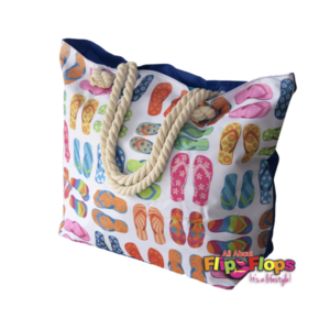 Flip Flops Beach Tote Bag Front View