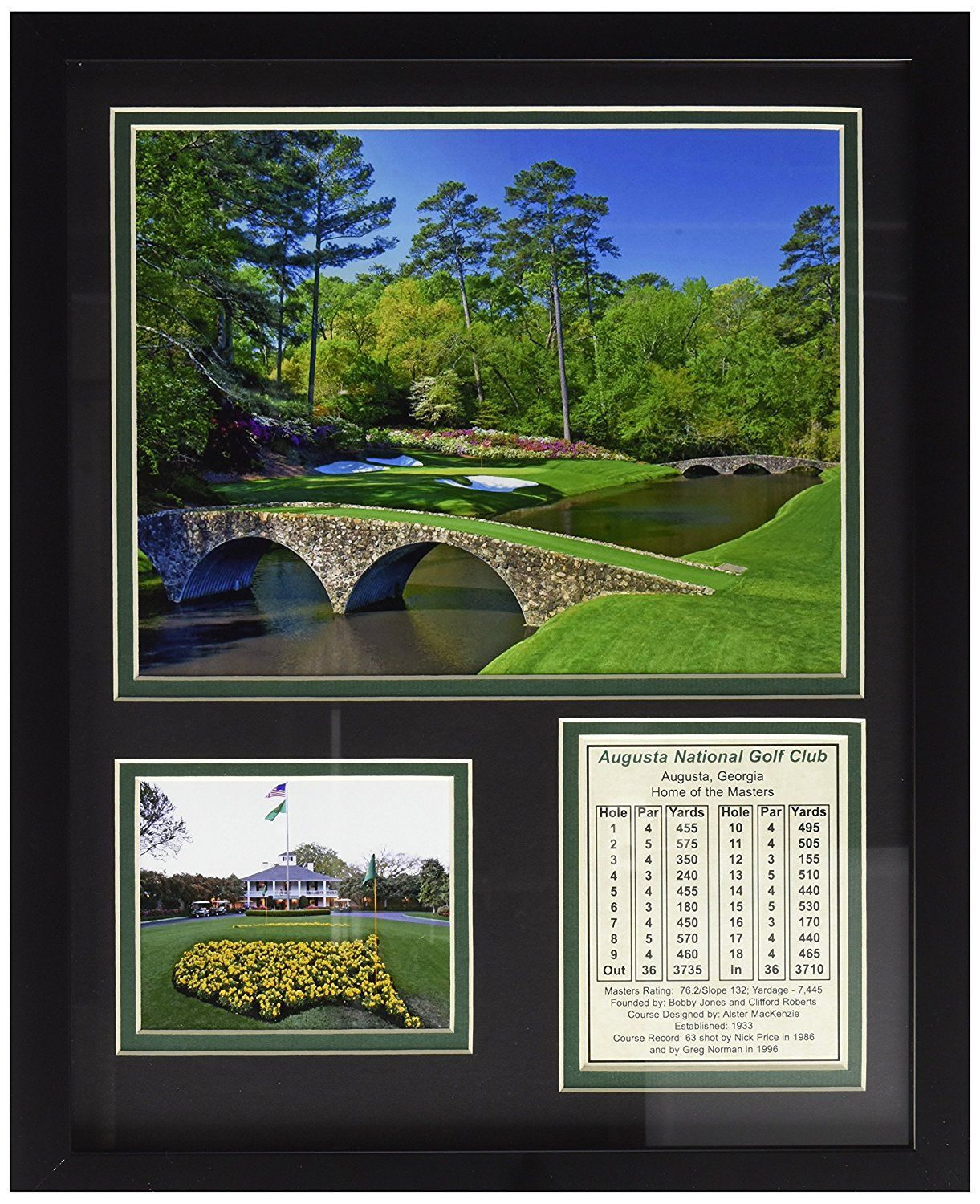Augusta National Golf Course 11 X 14 Framed Photo Collage By Legends Never Die Inc Want Additional Info Framed Photo Collage Photo Collage Golf Courses