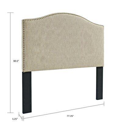 Best Laurel Foundry Modern Farmhouse Pesmes Upholstered Panel 640 x 480