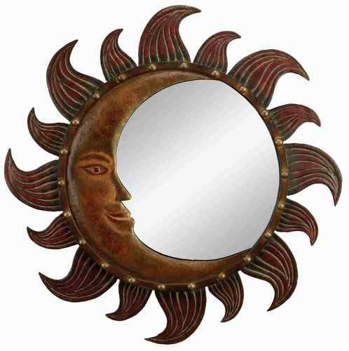 Metal Sun Moon Mirror Wall Decor For The Home
