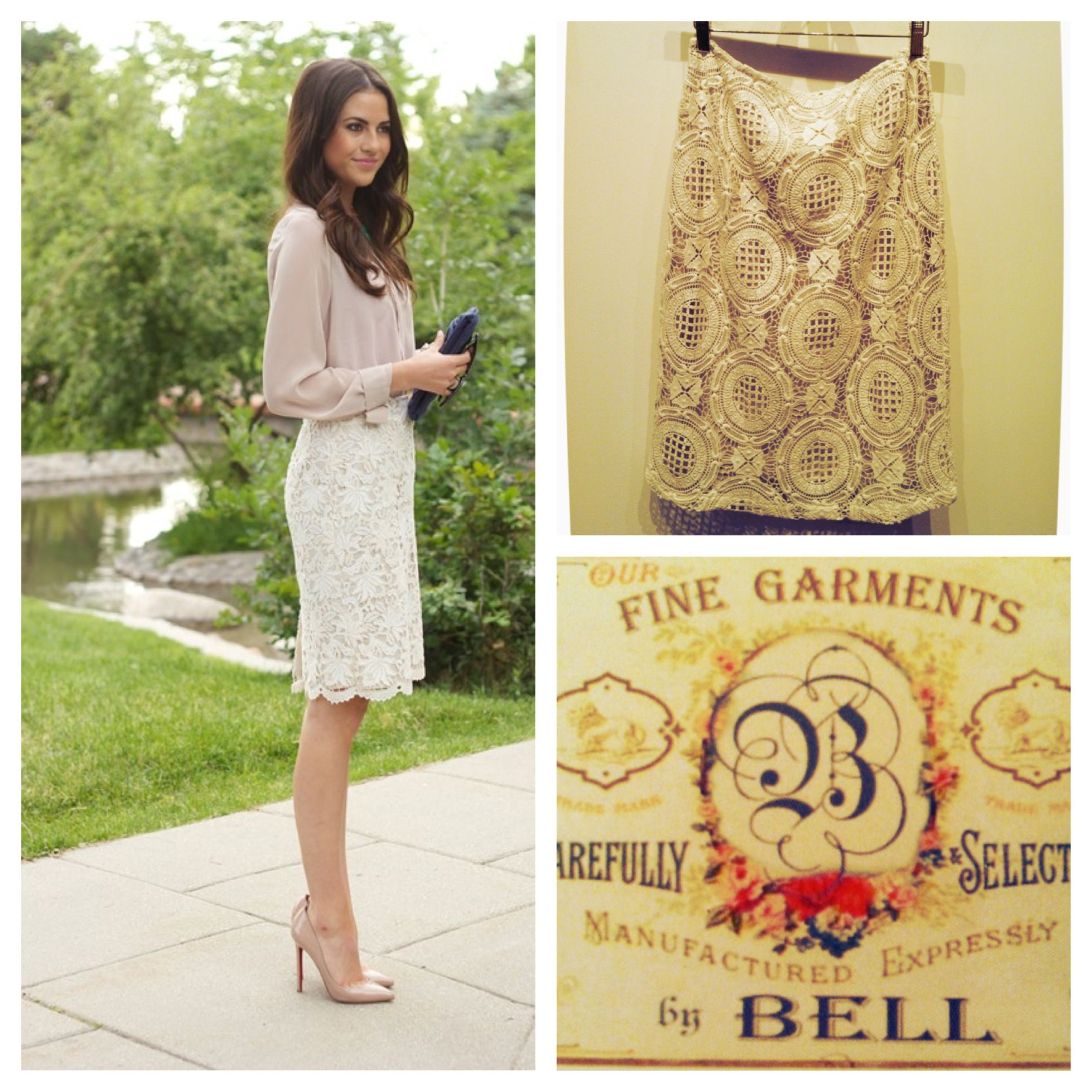 Create this gorgeous classic look with our lace skirt by Bell!