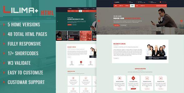 insurance portfolio template  Lilima Business Template . Lilima is a Responsive Multipurpose ...