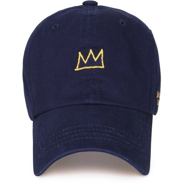 Jean-Michel Basquiat Cotton Cute Crown Embroidery Curved Hat ... 703d40b50f74