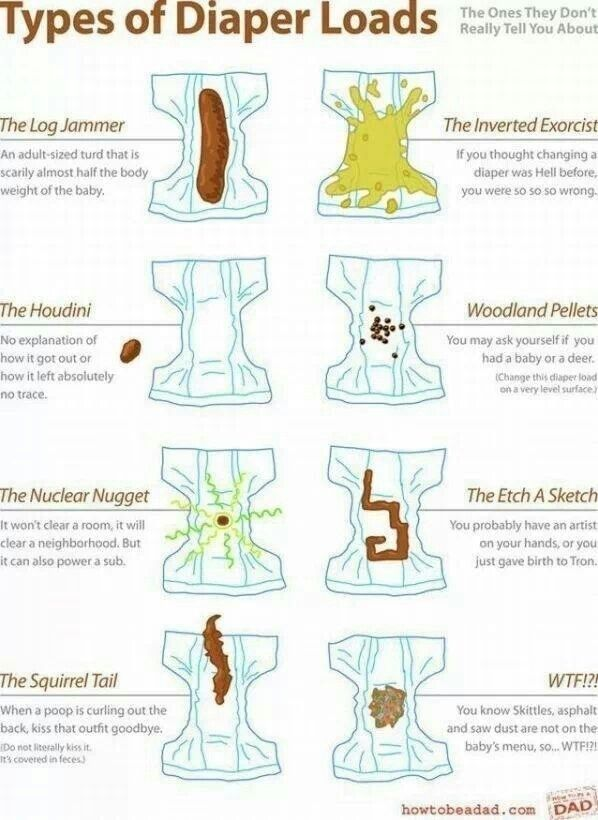 Friday funny baby poop chart from the always hilarious how to be  dad blog minuteformom pinterest babies and also rh
