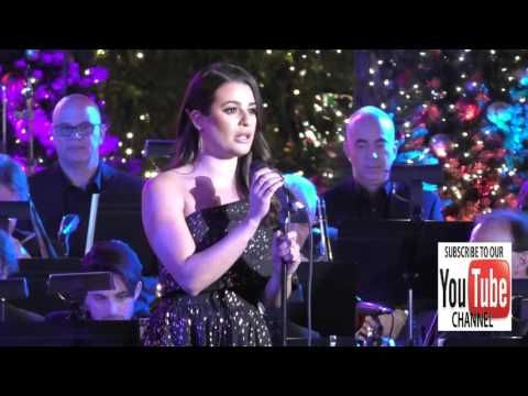 Lea Michele at the Grove Christmas With Seth MacFarlane at The Grove in Hollywood - YouTube