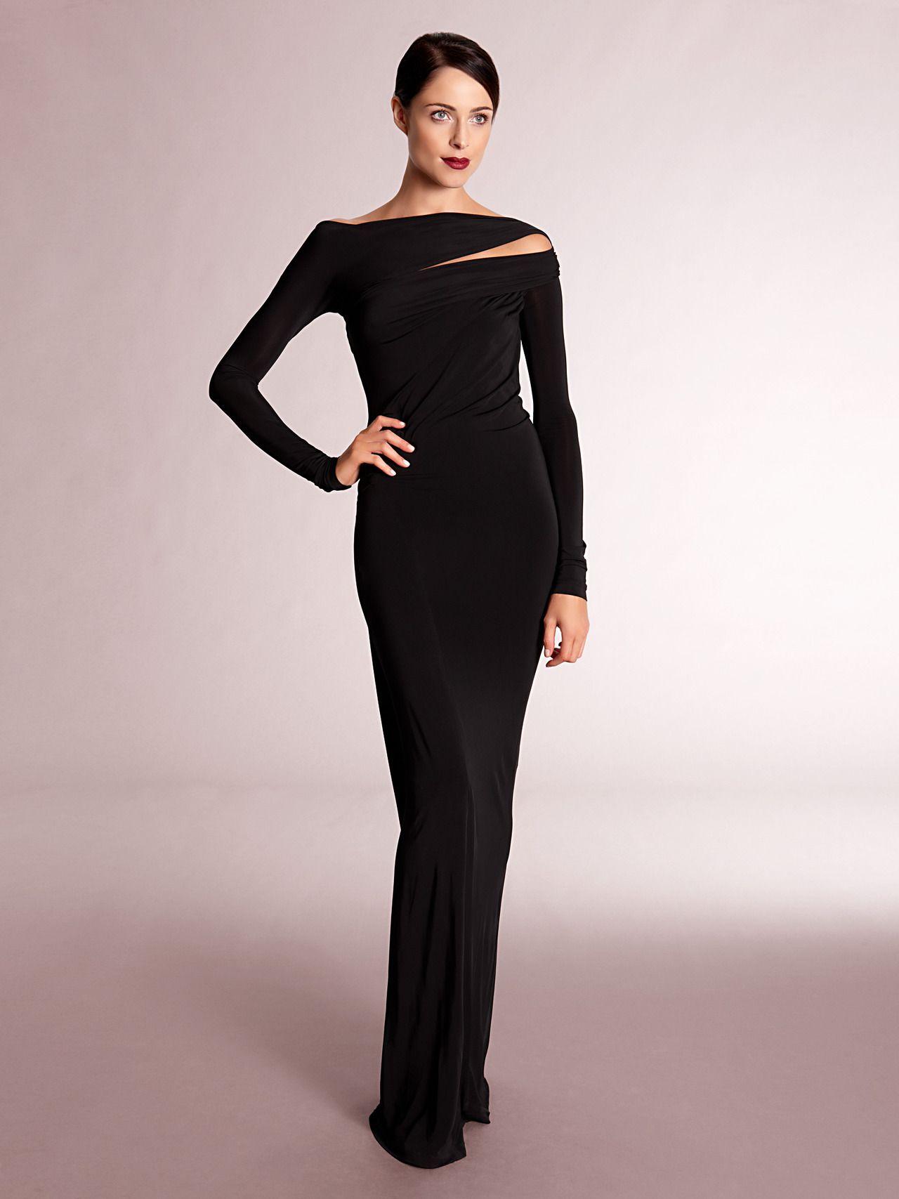 Designer donna karan ny see details here long sleeve slash neck
