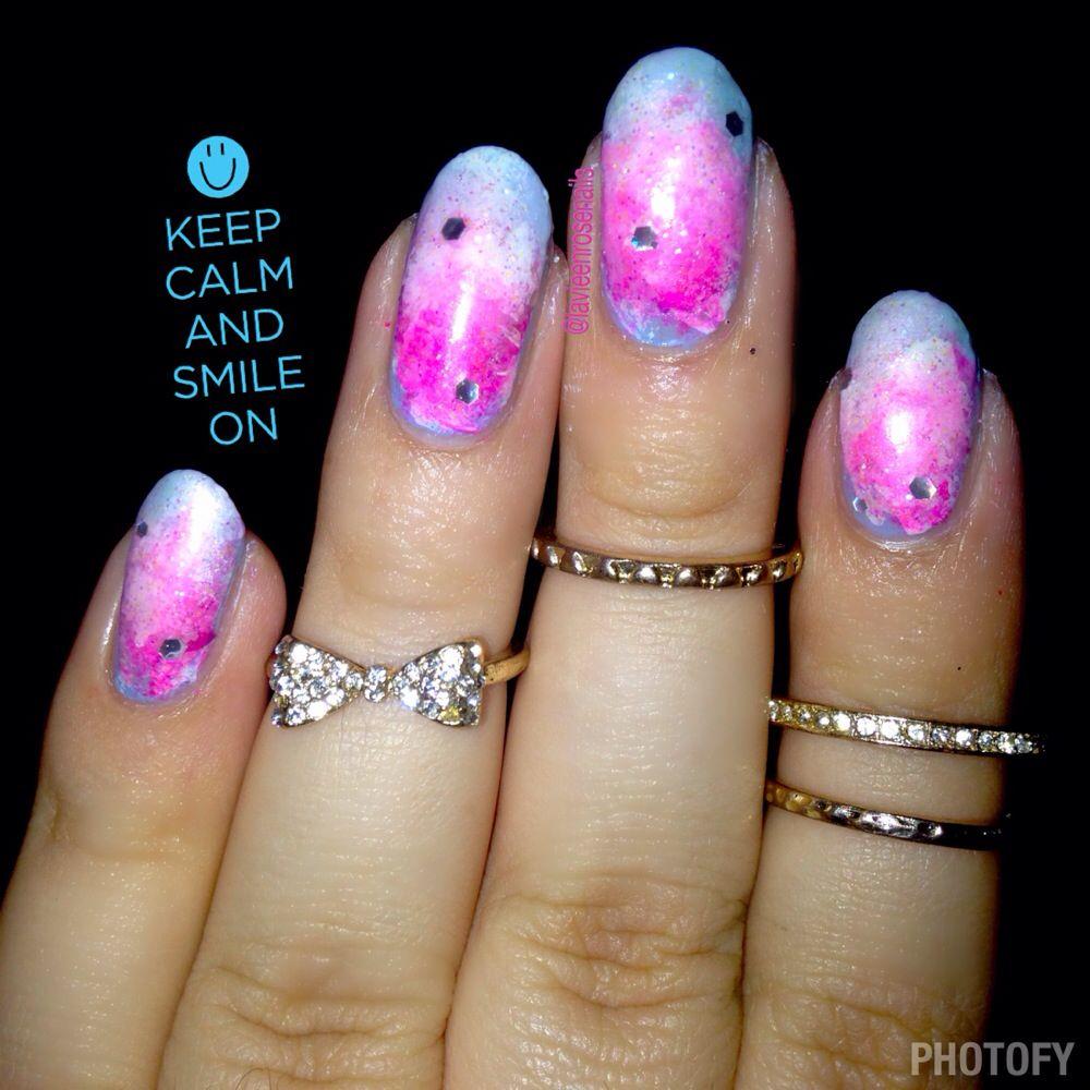 Cotton candy nail art | Cotton candy nails, Nails, Nail art