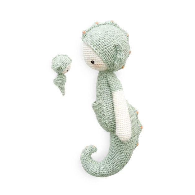 Caballito de mar SEPP • lalylala patrón de crochet | Caballos de mar ...