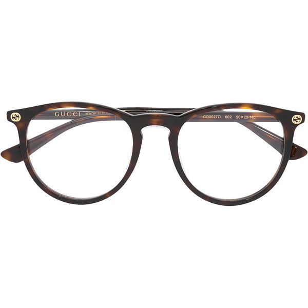 d6cbb51b689 Gucci Eyewear - tortoiseshell glasses - women - Acetate - 50 (710 BRL) ❤  liked on Polyvore featuring accessories