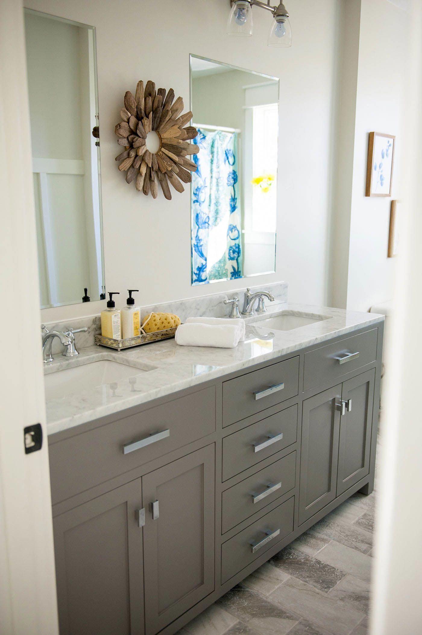 Double Bathroom Vanity Designs Ideas A Double Trough Sink Bathroom Vanity Has Actually Basins Recess Double Vanity Bathroom Grey Bathroom Vanity Sink Remodel [ 2104 x 1400 Pixel ]