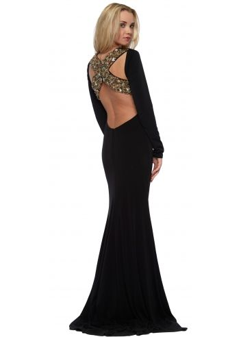 corset and dresses long sleeved bonita jewel encrusted