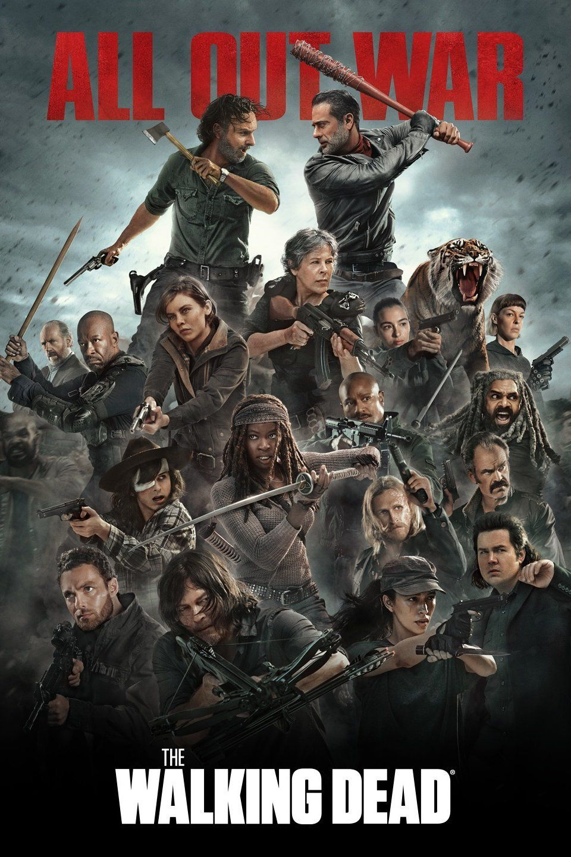All Out War The Walking Dead Poster Walking Dead Season