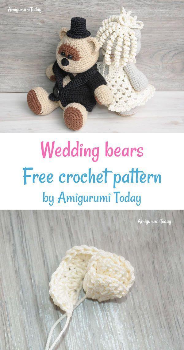 Amigurumi Wedding Bears Crochet Pattern Free Amigurumi Patterns